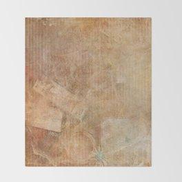 Antique Vintage Textured Background Throw Blanket