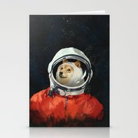 seahawks Stationery Cards featuring DOGE by Ilya Brovkin