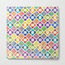 Colorful Floral Pattern III Metal Print