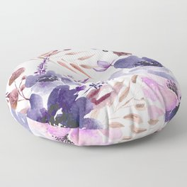 Watercolor giant flowers Floor Pillow