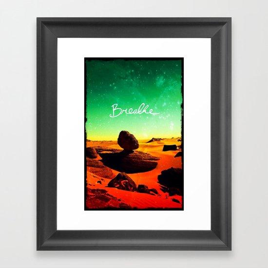 Breathe - for iphone Framed Art Print