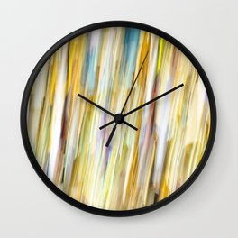 Bright Shower of Color Wall Clock