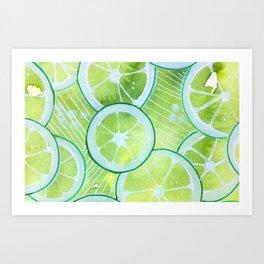 Lime Rings Art Print