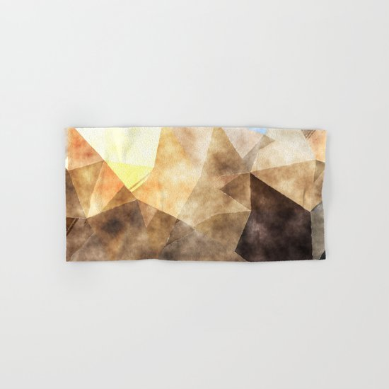On the fields- Abstract watercolor triangle pattern Hand & Bath Towel