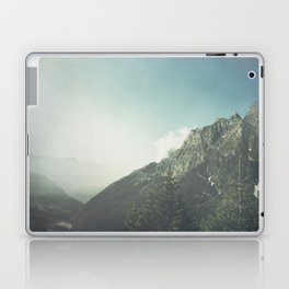 Alpine Valley and Mountains in Mist Laptop & iPad Skin