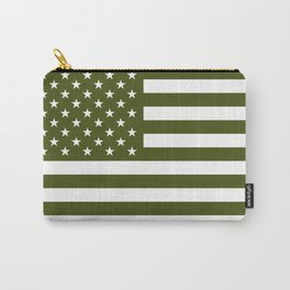 U.S. Flag: Military Green Carry-All Pouch