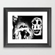 Surrealist Dali artwork, mixed media, hand drawing and digital overlay. Framed Art Print