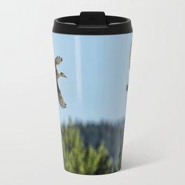 Two Ducks Flying Travel Mug
