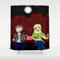 theatre Shower Curtains featuring Horror Theatre by Beaston Designs