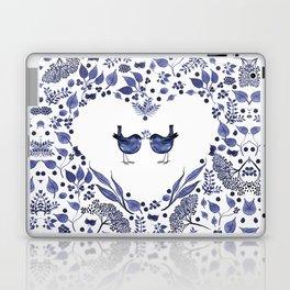 BLUE BIRDS WATERCOLOR - THE GIFT - INDIGO Laptop & iPad Skin