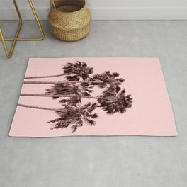 Palms on Blush Rug