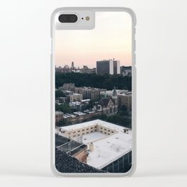 Harlem Rooftop View Clear iPhone Case