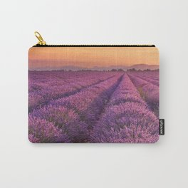 I - Sunrise over blooming fields of lavender in the Provence, France Carry-All Pouch
