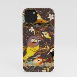 Birds on a branch  Zu hause mit kinder HOME DEKOR 2020 iPhone Case