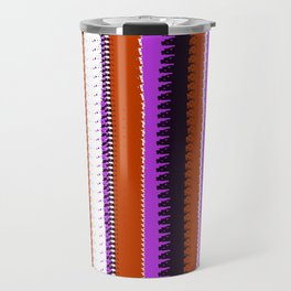 Rust and Purple Indian Blanket Design Travel Mug