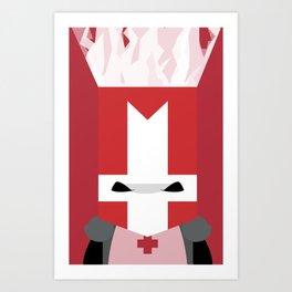 Red Knight (Castle Crashers) Art Print