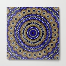 Night Sky Mandala. Metal Print