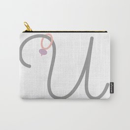 U Initial with Stitch Marker Carry-All Pouch