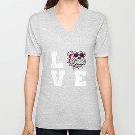 Love Bulldogs Unisex V-Neck