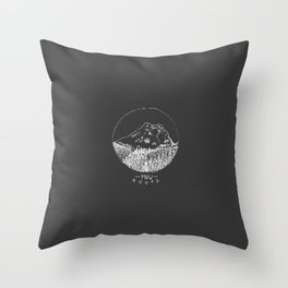 Pacific Northwest Roots Throw Pillow