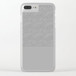 Combo light grey abstract pattern . Clear iPhone Case