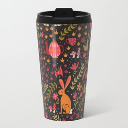 Tortoise and the Hare in Red Travel Mug
