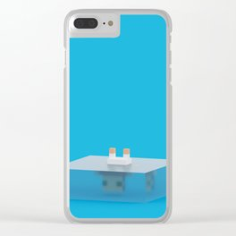 drowned (voxel) Clear iPhone Case