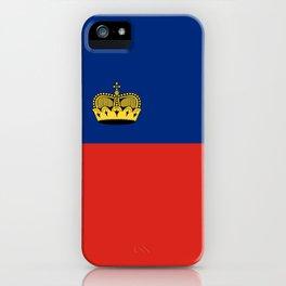 Liechtenstein country flag iPhone Case