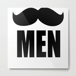 Mustach Man Metal Print