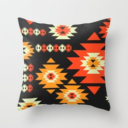 Native geometric shapes Throw Pillow