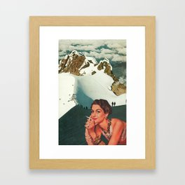 Not Worth the Climb Framed Art Print