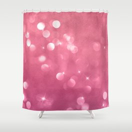 Passionate Pink Champagne Bubbles Shower Curtain