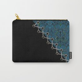 Lacing . 2 . Blue and black . Carry-All Pouch