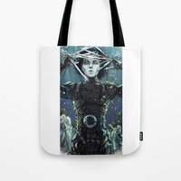 edward scissorhands Tote Bags featuring Edward Scissorhands by Arashi.C