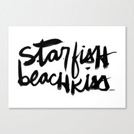 Starfish Beachkiss Canvas Print
