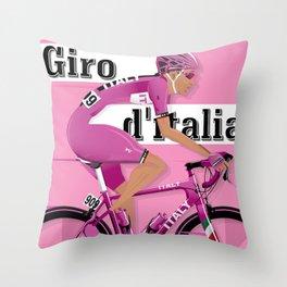 GIRO D'ITALIA Grand Cycling Tour of Italy Throw Pillow