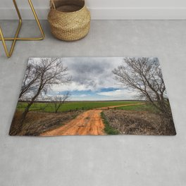 Take Me Home - Old Country Road in Oklahoma Rug