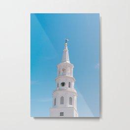 Charleston Steeple V Metal Print