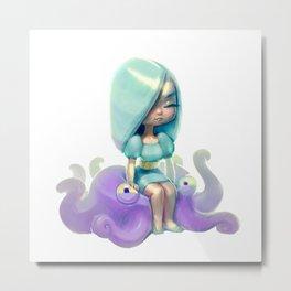 Octopus Doll Metal Print