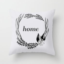 Baesic Mono Floral Home Throw Pillow