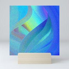 Blue Morning View, Abstract Mini Art Print