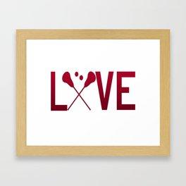 Love Lacrosse Framed Art Print