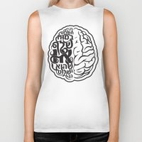 brain Biker Tanks featuring Brain by RomaM