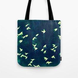 Retro Birds Tote Bag