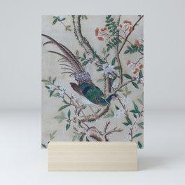 Antique Chinoiserie with Bird Mini Art Print