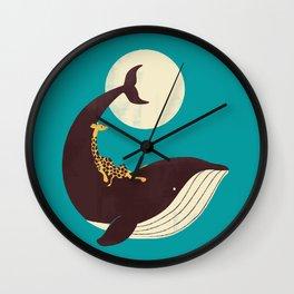 The Giraffe & the Whale Wall Clock