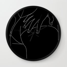 Woman in minimal line Wall Clock