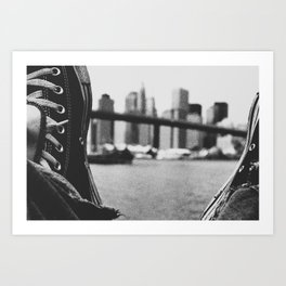 laced up Art Print
