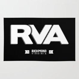 "Rva Logo - White   "" Striped Outline "" Rug"