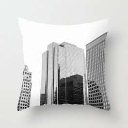 Boston Rooftop Views Throw Pillow